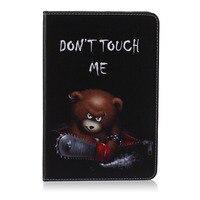 Brown Bear Pattern PU Leather Flip Case For Apple IPad Air1 2 IPad Mini1 2 3
