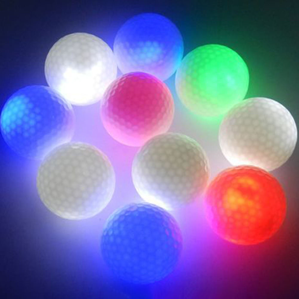1PCS Light-up Color Flashing Glowing LED Electronic Golf Ball For Night Golfing Gift Drop Shipping