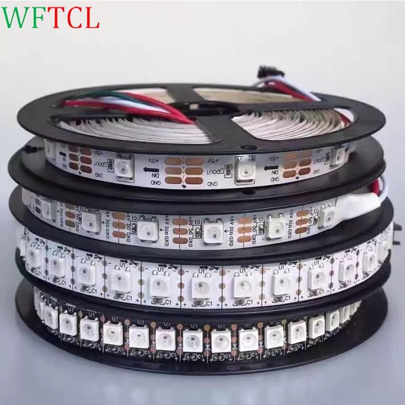 WFTCL 1M 4M 5M Built-in WS2812B Full Color LED strip,30 LED 30 pixels, Raspberry Pi Pixel matrix Display Arduino DIY led strip