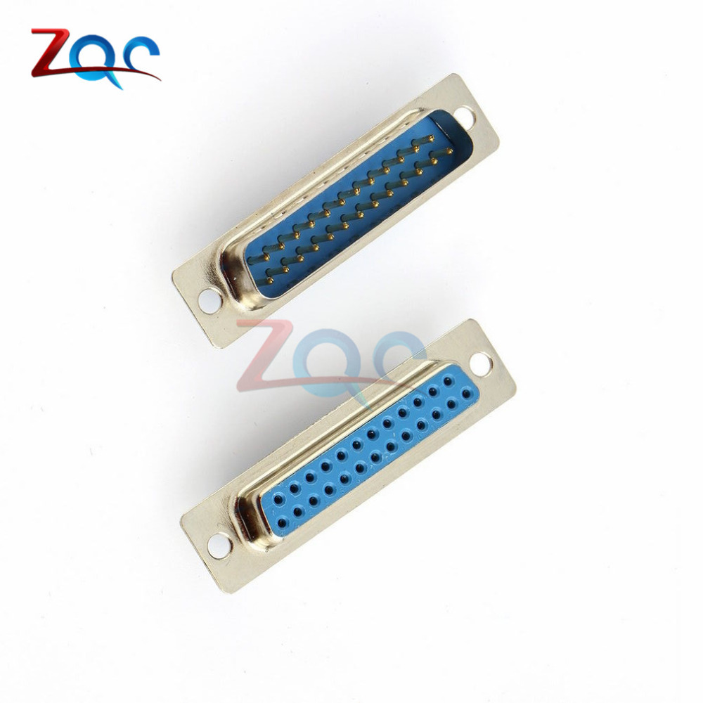 1Pair 25Pin D-SUB DB25 Pin Female Male Solder Type Welding Connector DIY