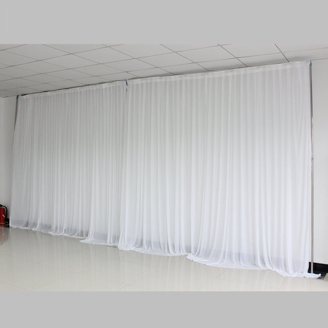 Ice Silk Simple White Wedding Backdrop Background For Party Decoration D