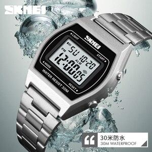 Image 5 - Relógio Digital de SKMEI Relógios Senhoras Da Moda Esporte Ao Ar Livre Da Liga de Luxo Strap Negócios Relogio12/24 Horas Relogio Feminino Digitais