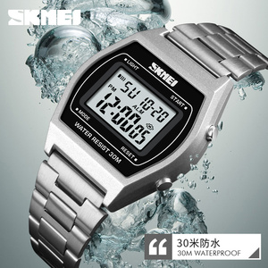 Image 5 - SKMEI Ladies Fashion Watches Outdoor Sport Luxury Alloy Digital Watch Strap Business Relogio12/24 Hours Relogio Feminino Digital