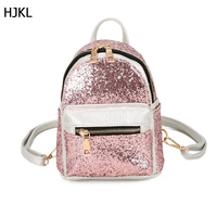 2017 Famous Designed Women Mini Backpacks Cute Girls Sequins Shoulder Bags All Match Bag Small Travel