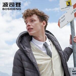Image 1 - Мужская куртка пуховик BOSIDENG, 90% утиного пуха, высокое качество, водонепроницаемая, с капюшоном, с капюшоном, с карманами, термос, B80131009