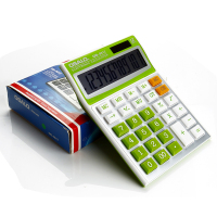 Candy Colors Electronic Calculator Big Buttons Dual Solar Power Desktop Desk Calculating Computer Finance Calculator Office