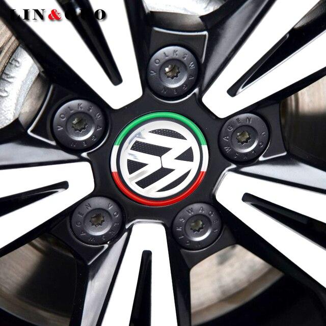 Us 398 4 Stücke Auto Radmitte Dekorative Aufkleber Fit Für Volkswagen Vw Golf 4 5 6 Polo Passat B5 B6 B7 Jetta Mk6 Tiguan Auto Styling In 4 Stücke