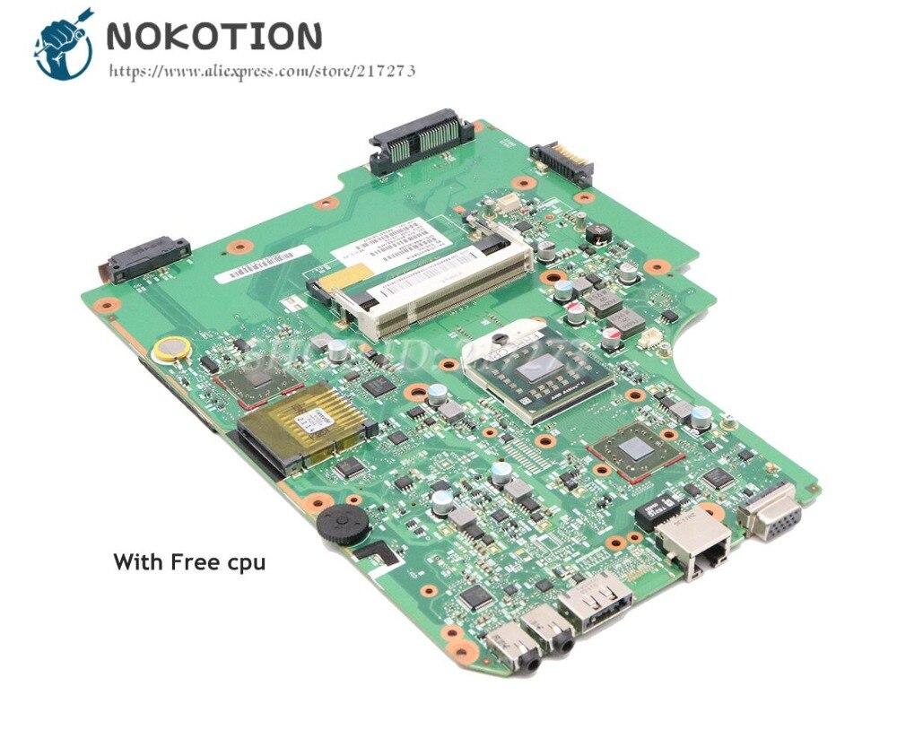 NOKOTION V000185580 V000185560 For Toshiba Satellite L505 L505D Laptop Motherboard Socket S1 DDR2 with Free cpuNOKOTION V000185580 V000185560 For Toshiba Satellite L505 L505D Laptop Motherboard Socket S1 DDR2 with Free cpu