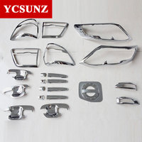 car Accessories ABS car styling Chrome Kit Full Set for toyota fortuner 2012 2013 2014