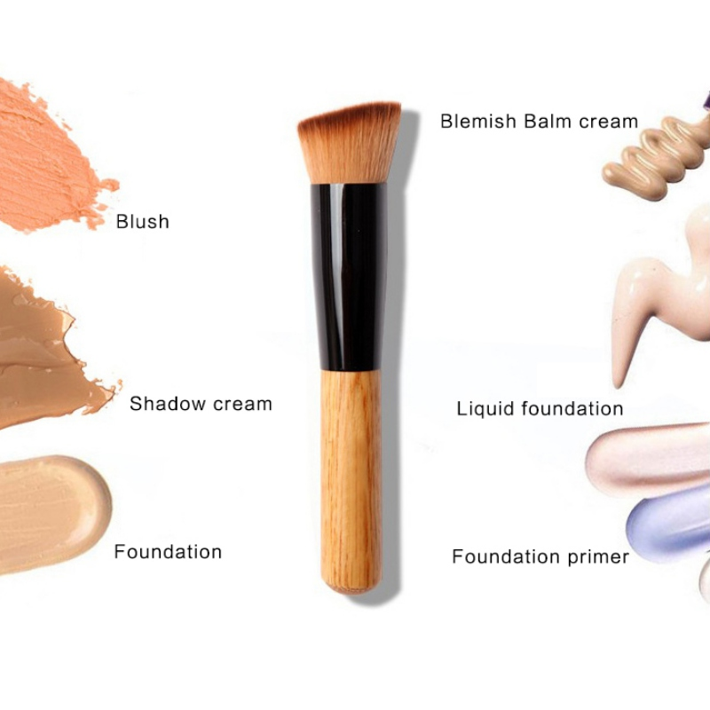 Multifunction Makeup Brush Professional Soft Fiber Flat Top Foundation Powder Angled Brush Cosmetic Tool E5 top quality foundation brush angled makeup brush