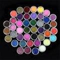 Venta caliente Profesional 45 UNID Color Glitter Polvo Del Polvo de Uñas de Acrílico Arte Inclina La Decoración para las mujeres belleza mejor precio al por mayor