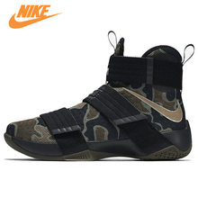 NIKE Original LEBRON SOLDIER 10 Men's Cool Camouflage Basketball Shoes Sneakers Trainers