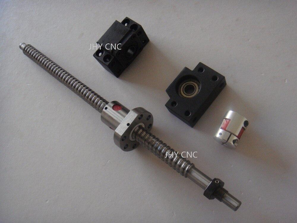 6.35*10mm coupler bearing mounts BK12 BF12 1pc Ball screw 1605-L750mm-C7