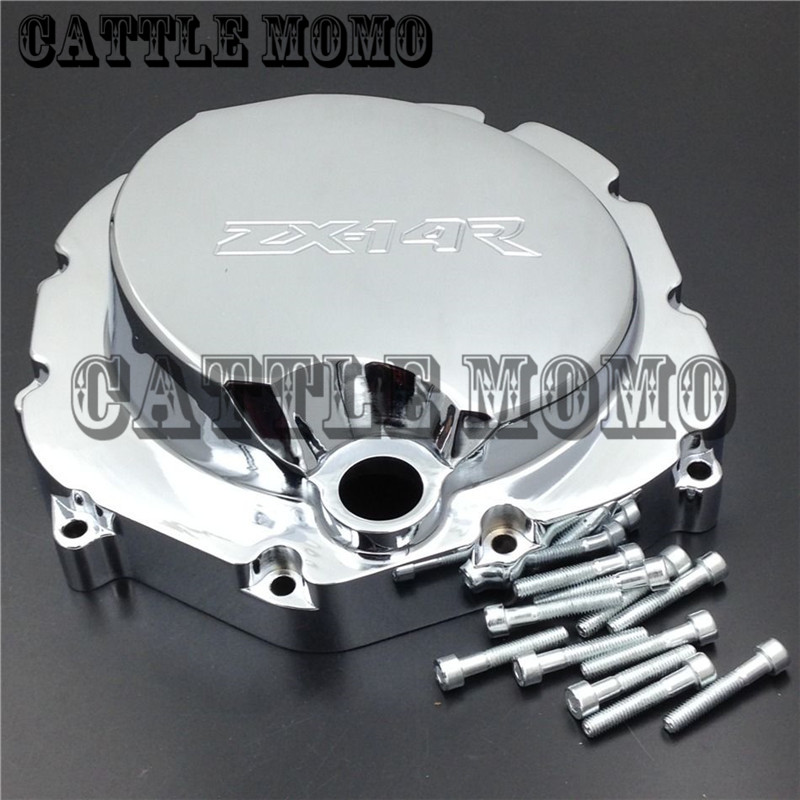 Motorcycle Right Engine Clutch cover For Kawasaki ZX14R ZZR1400 2006 2007 2008 2009 2010 2011 2012 13 2014 Stator Engine Covers car rear trunk security shield shade cargo cover for nissan qashqai 2008 2009 2010 2011 2012 2013 black beige