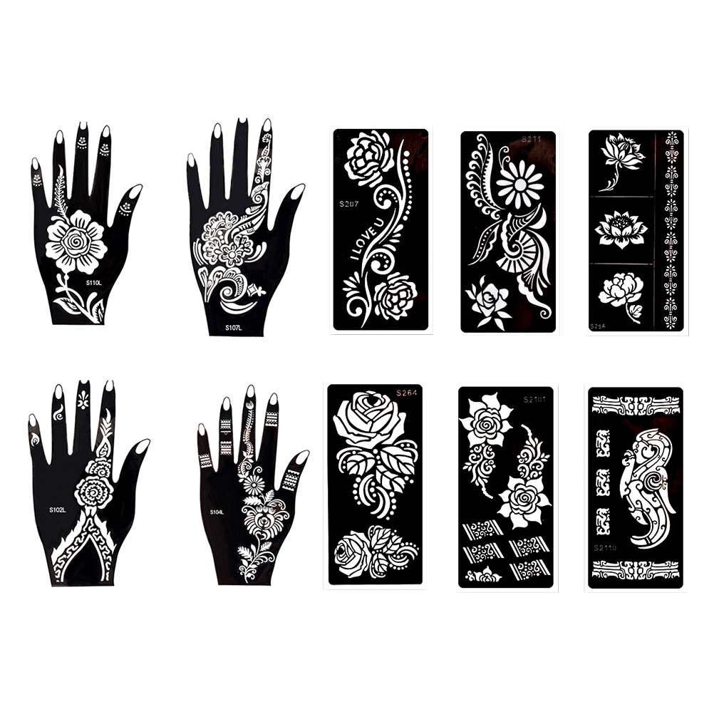 photograph about Printable Stencils for Spray Painting called 10 Sheets Momentary Self adhesive Tattoo Templates Stencils