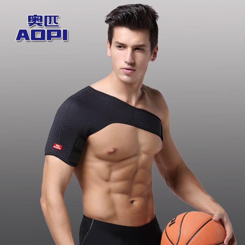 AOPI 1 pcs Breathable Shoulder Protection Elastic Bandage Shoulder Supports Kinesiology Sports Tape Single Shoulder Protect