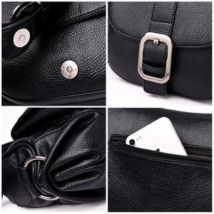 Image 4 - 女性の高級ブランドハンドバッグサックメインクロスボディバッグ女性の革のショルダーバッグ女性のメッセンジャーバッグスモールソフトフラップバッグ