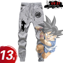 Print Pants Men DIY Hip Hop Casual Unisex Trousers DRAGON BALL Cotton Polyester Harem Pants Funny Printing Joggers 2018 Fashion