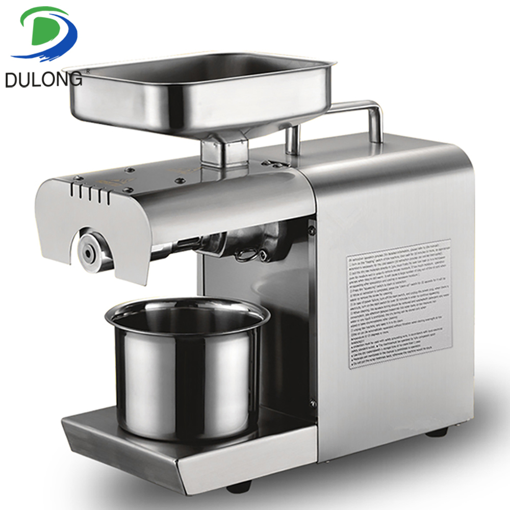 220V Heat and Cold home oil press machine peanut cocoa soy bean oil presser high oil extraction rate oil extractor