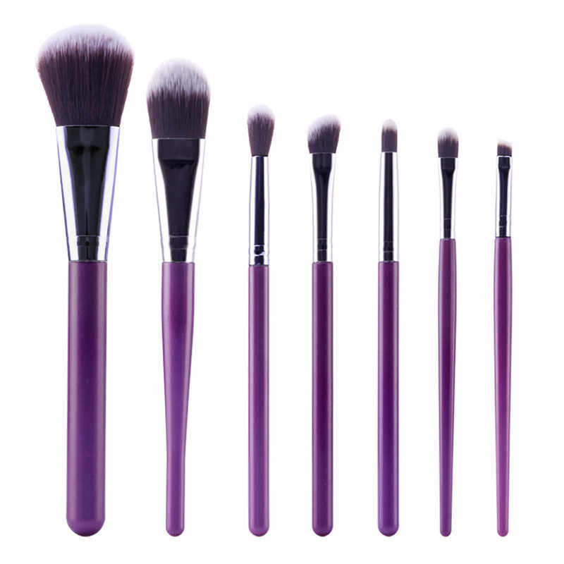 Pro 7Pcs/Set Makeup Brushes Set Powder Blush Foundation Eyeshadow Eyeliner Lip Cosmetic Kits Beauty Tools 2018 New