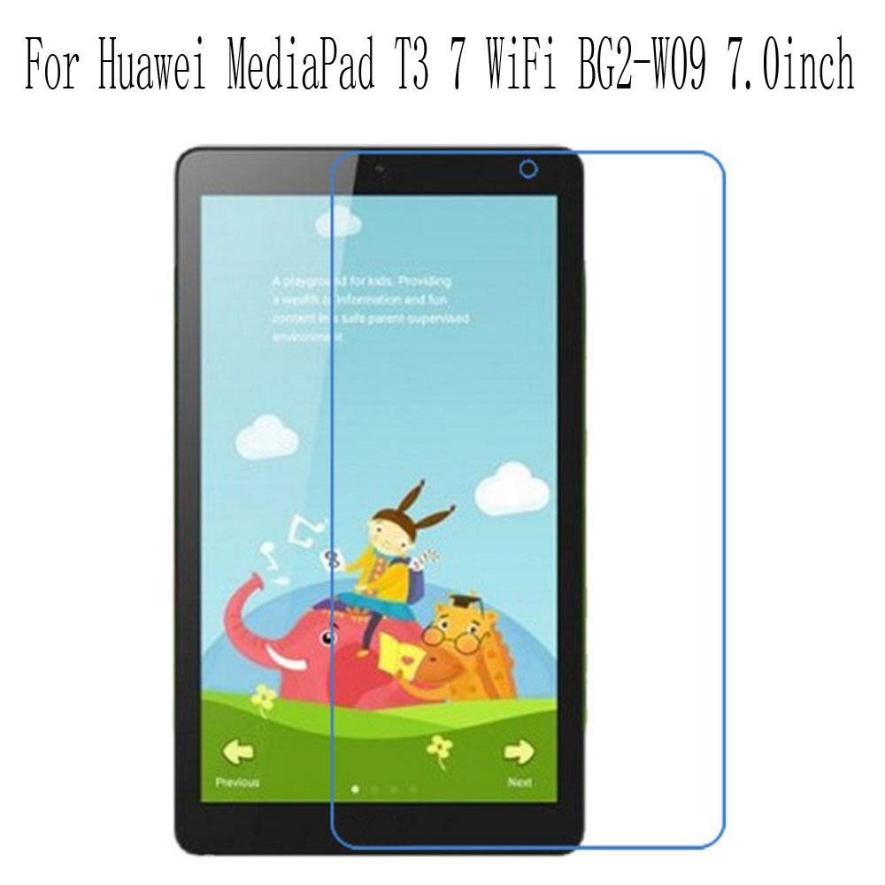 High Definition Protection Film For Huawei MediaPad T3 7 WiFi BG2 W09 7 0inch Tablet PC LCD Screen Protector 2Pcs in Tablet Screen Protectors from Computer Office