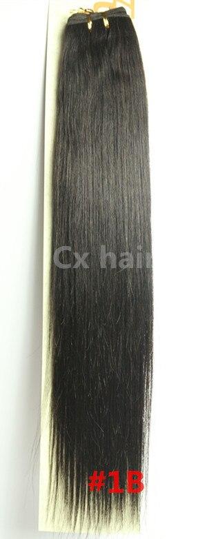 #1b natural black 161820222426283032 silk soft remy brazilian human hair extensions human hair weft weaving 100g/pcs