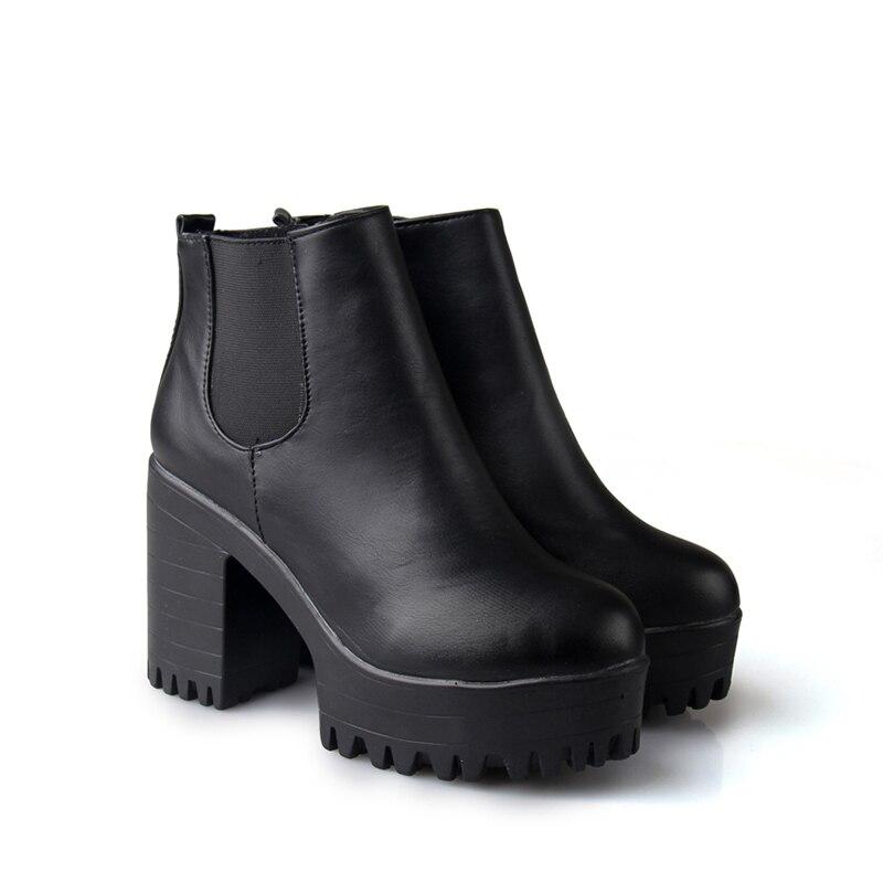 Noir 110 Zapatos Plates Pompe Moto Chaussures En Mujer Mode rouge Carré Cuissardes Bottes formes Cuir Femmes Botas H Pu Talon UpwT8qq