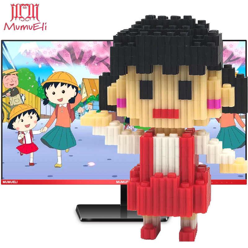 MUMUELI Mini montaż DIY japonia Anime rysunek śliczne 3D model budynku zestaw klocki dla dzieci dzieci żywica kolekcja zabawek DTSET-4