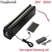 Серебряные рыбы батареи 36 В 20Ah электрический велосипед батареи 1000 Вт литий-ионный аккумулятор с 42 В зарядное устройство 15A BMS + порт USB для samsung ячейки