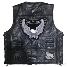 Мужской Байкерский кожаный мотоциклетный жилет черный мотоциклетный жилет в стиле хип-хоп Винтажный Мужской панк однотонный весенний жилет без рукавов
