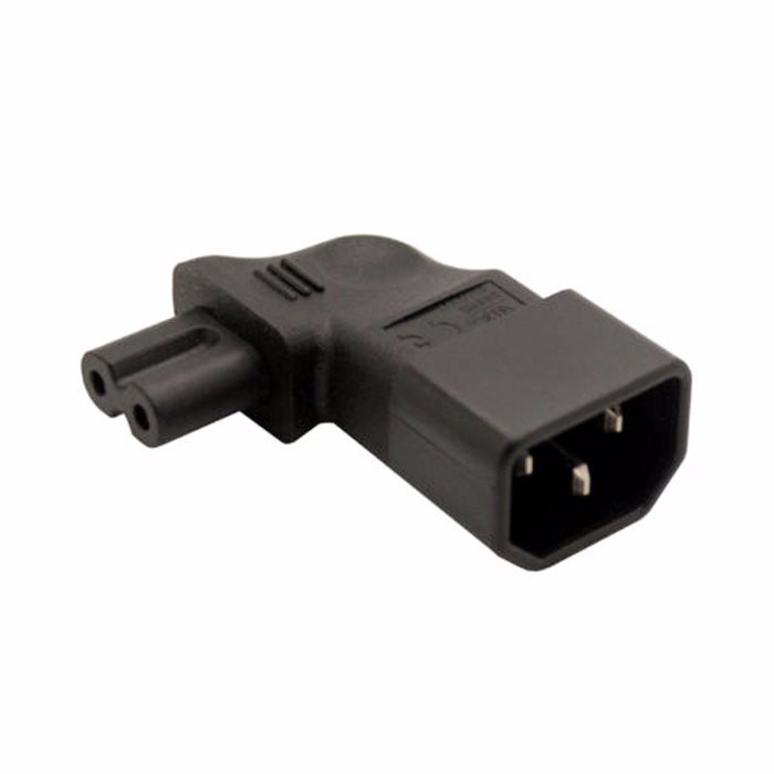 IEC320 IEC 320 iec C14 connector to C7 90 Degree Left Right Angled Power Male to Female Extension Adapter for Notebook Charger