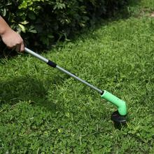 Portable Electric Grass Trimmer Handheld Cutter Cleaner Machine Line Garden Tools Telescopic
