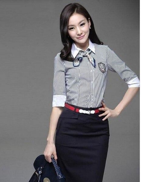 新しいシャツドレスフォーマル2013momen's版ol服ファッションカジュアルストライプブラウス半袖でsmlxlxxlxxxl