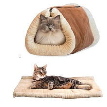 High Quality Washable Cat Dog Bed Mat Multifunction Sofas Mats For Small  Pets Cat Tunnel Pets Sleeping Bag Bed Supplies