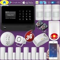 Golden Security DIY Kit G90B 3G GSM WIFI APP Control Home Security Alarm System Gas Detector
