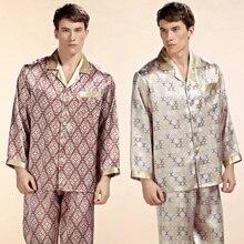 Оптовая продажа чистого шелка атласные пижамы продажи с длинным рукавом Для мужчин пижамы Пижамы для девочек Брюки для девочек 100% натуральный шелк пижамы комплект YE2520