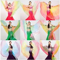 Free Shipping Gradient Colors Belly Dance Costume Professional Dancing Isis Wings 9 Colors Selling