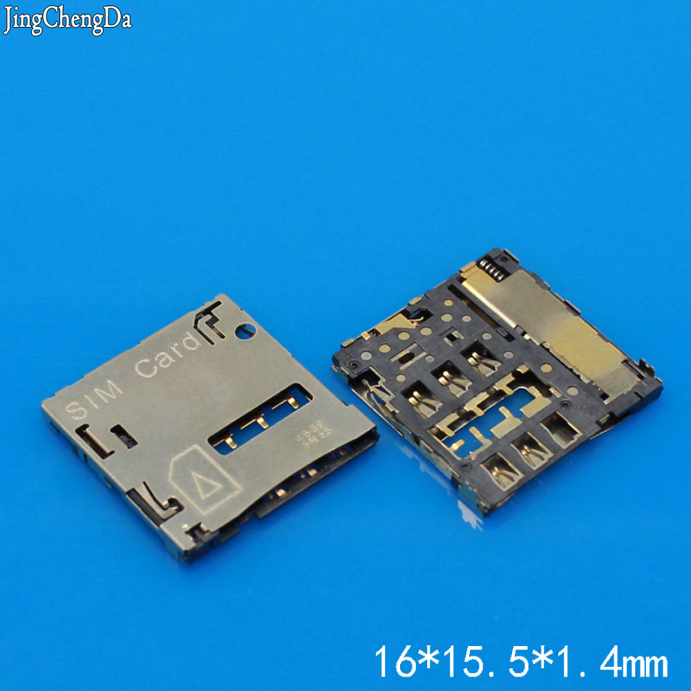 Jing Cheng Da 1pcs/lot 100% New SIM card Socket reader Holder Tray Replacement for Huawei S8-701U T1-823L T1-701U