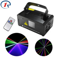ZjRight IR Remote Red Green Blue Laser Stage Light DMX512 400mW Full Color Projector lights bar ktv dj party dance Xmas lighting