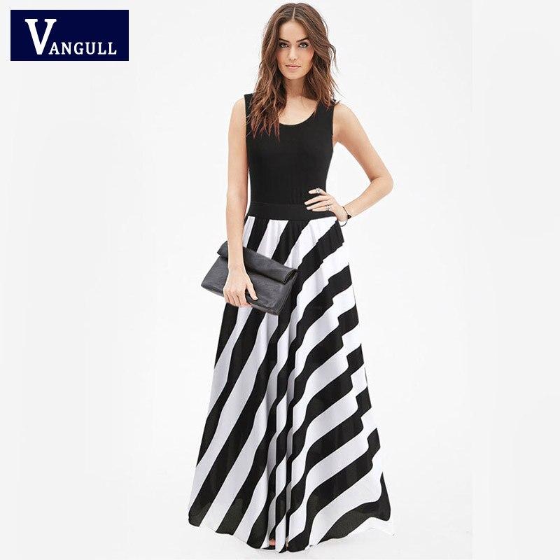 73c2378f5e7 Women Sexy Striped Ankle-Length Summer Dress 2017 New Sleeveless Crisscross  Back A Line Beach Halter Party Wear Dresses in Pakistan