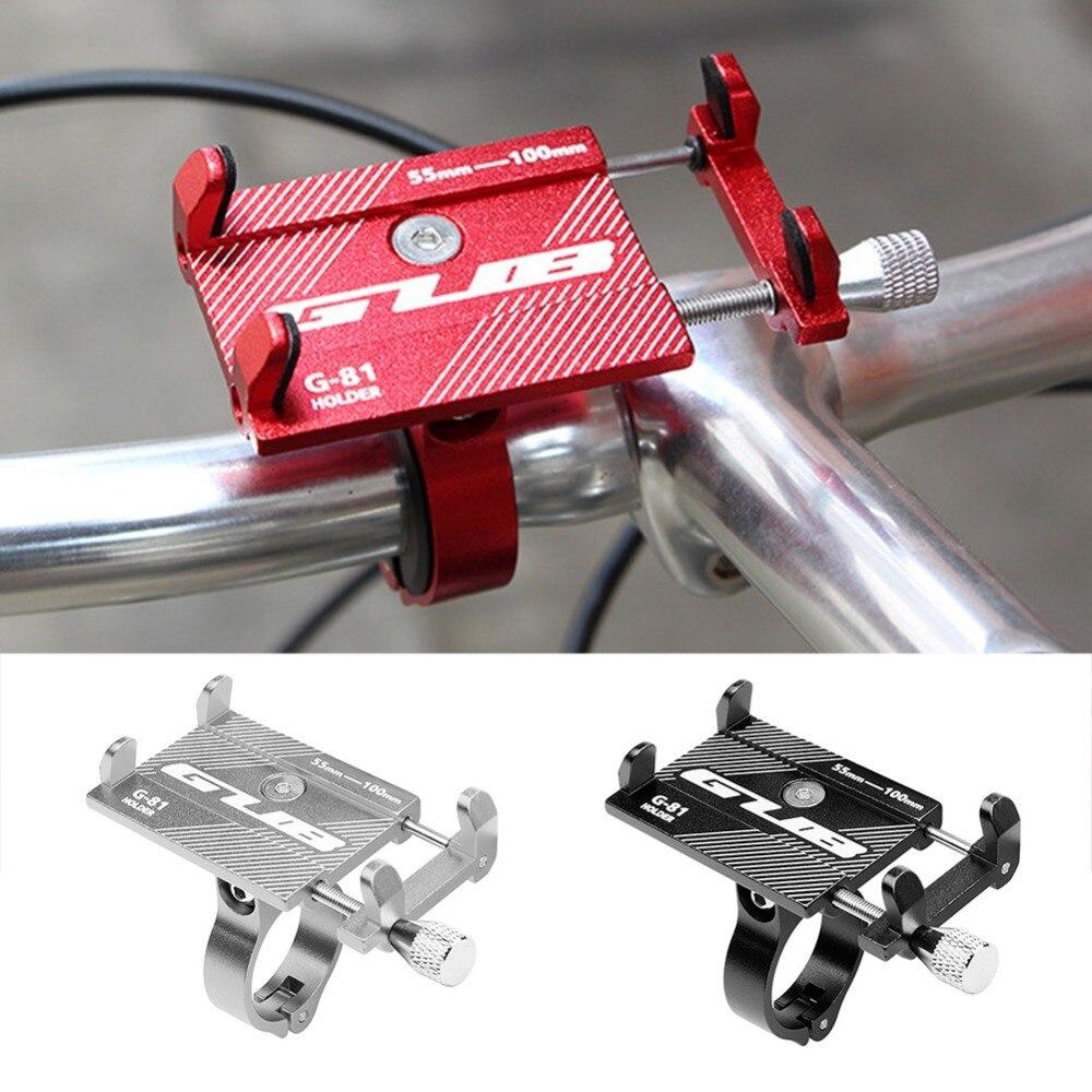 GUB G-81 Mount Suporte Ajustável Phone Holder Guiador Clipe Suporte de Bicicleta Anti-Slip Da Bicicleta para 3.5-6.2 polegada telefone Bicicleta