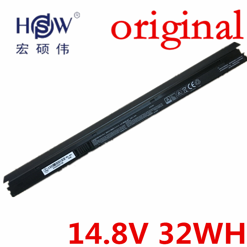HSW   14.8V 32Wh W950BAT-4 Laptop Battery For Clevo 6-87-W95KS-42F 6-87-W95KS 4ICR18/65 bateria akku hsw brand new 6cells laptop battery c4500bat 6 c4500bat6 6 87 c480s 4p4 for clevo c4500 series laptop battery bateria akku
