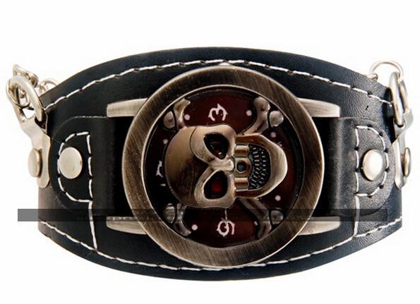 One Piece Unisex Faux Leather Strap Round Analog Watch