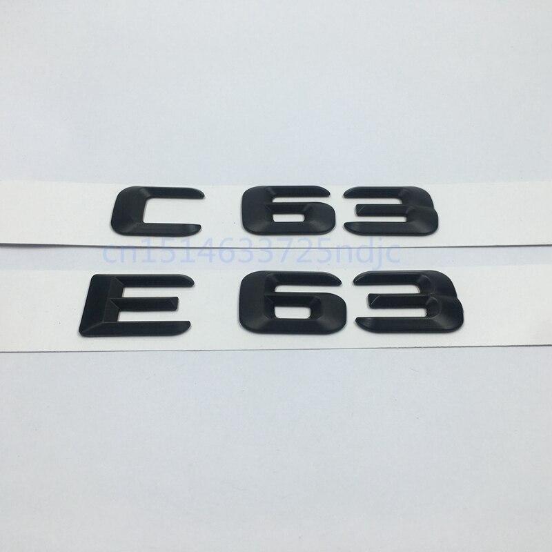 Noir E63 C63 Emblème Arrière Tronc Nombre Lettre Badge Autocollant Pour Mercedes Benz E C Classique 4 Matic AMG W204