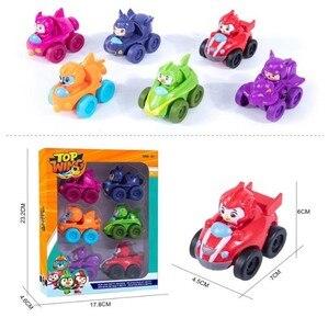 Image 1 - Ensemble de 6 figurines daction pour enfants, nouveauté 2019, jouets aile supérieure dos de la voiture, modèle de Collection, poupées, cadeau pour enfants