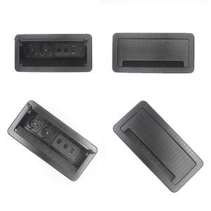 Image 3 - JOHO מברשת פתוח סוג שולחן שקע אלומיניום סגסוגת האיחוד האירופי תקע רב פונקצית USB HDMI VGA ממשק BS 102