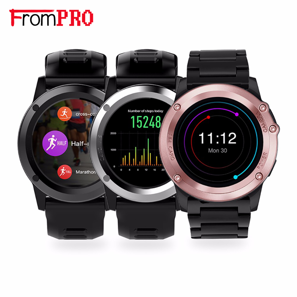 FROMPRO H1 Smart watch Android MTK6572 512MB 4GB ROM GPS SIM 3G Altitude WIFI IP68 waterproof 5MP Camera Heart Rate Smartwatch celiadwn smart watch android 5 1 smartwatch phone 3g mtk6580 512mb 4gb with 2 0 camera wifi gps sim card clock vs x200 dm98