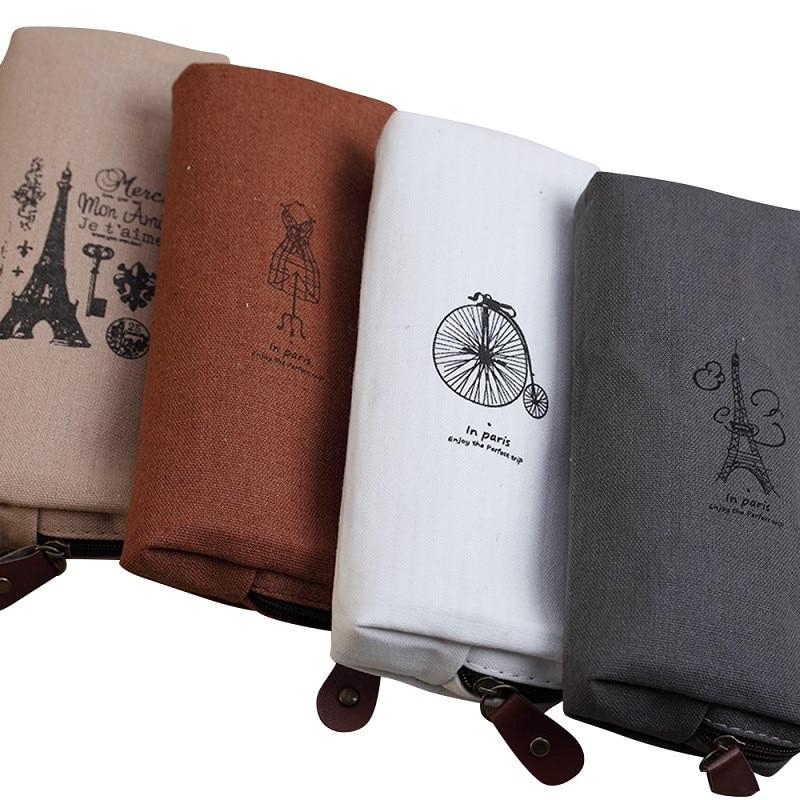 Hot Sale Girl Letters Cosmetic Bag Tower Pattern Makeup Bag Neceser Make Up Bag Travel Organizer Zippe Cosmetic Bag Cosmetics
