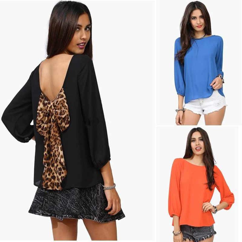 2020 ใหม่แฟชั่นเสื้อผู้หญิงเสื้อสีส้ม/สีชมพูฤดูใบไม้ร่วงหลวมเสื้อผู้หญิงสุภาพสตรีเสื้อชีฟองพลัสขนาด