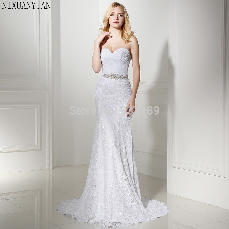 Real Retro Weddings: Pleat Bridal Wedding Gown Real Photos White Lace Cheap
